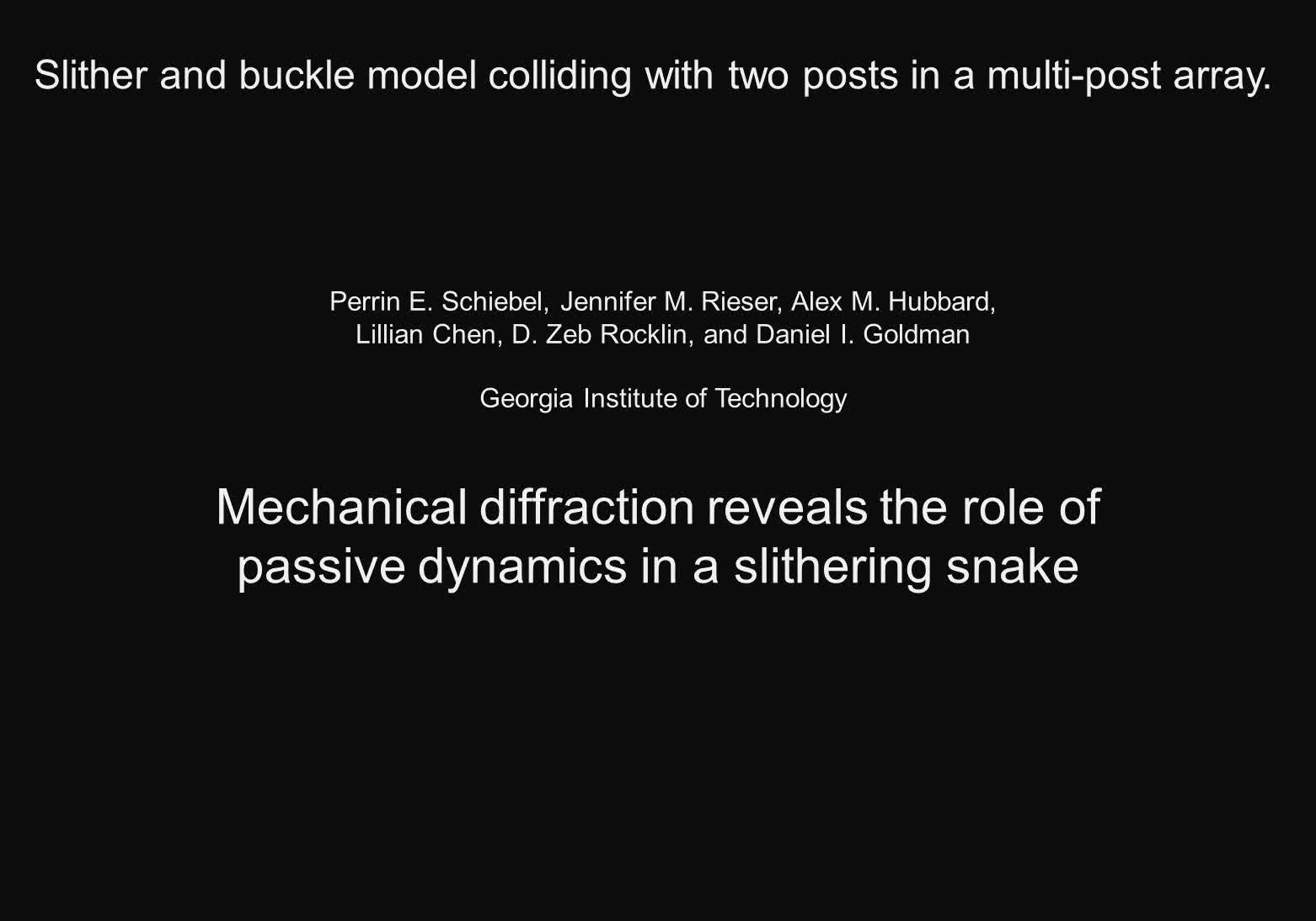 Mechanical diffraction reveals the role of passive dynamics