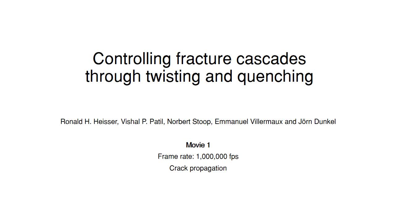 Controlling fracture cascades through twisting and quenching | PNAS