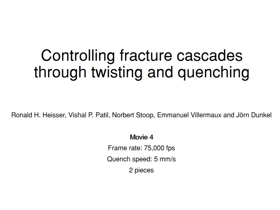 Controlling fracture cascades through twisting and quenching