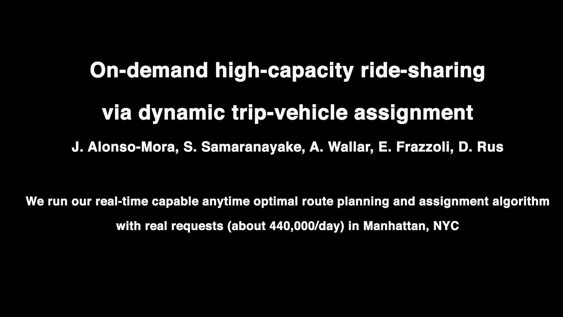 On-demand high-capacity ride-sharing via dynamic trip