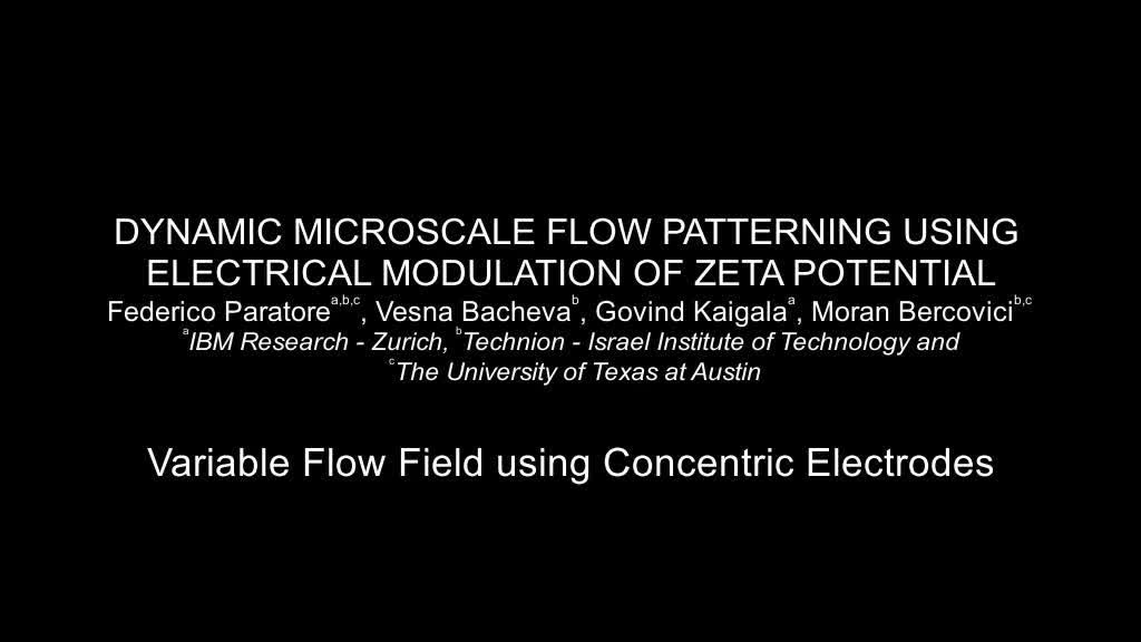 Dynamic microscale flow patterning using electrical